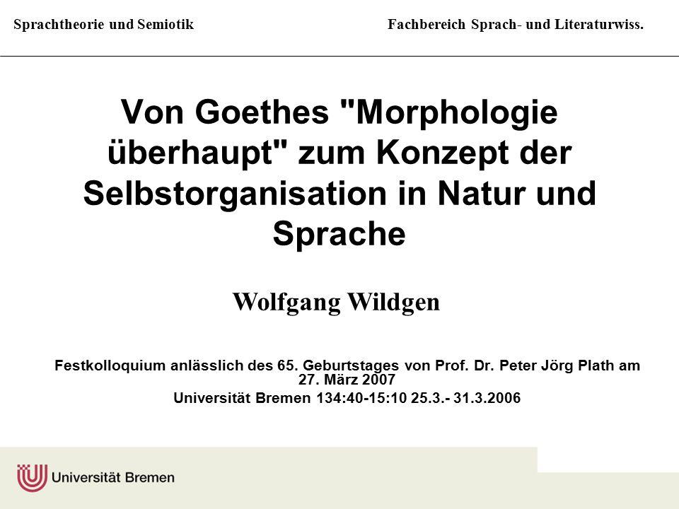Universität Bremen 134:40-15:10 25.3.- 31.3.2006