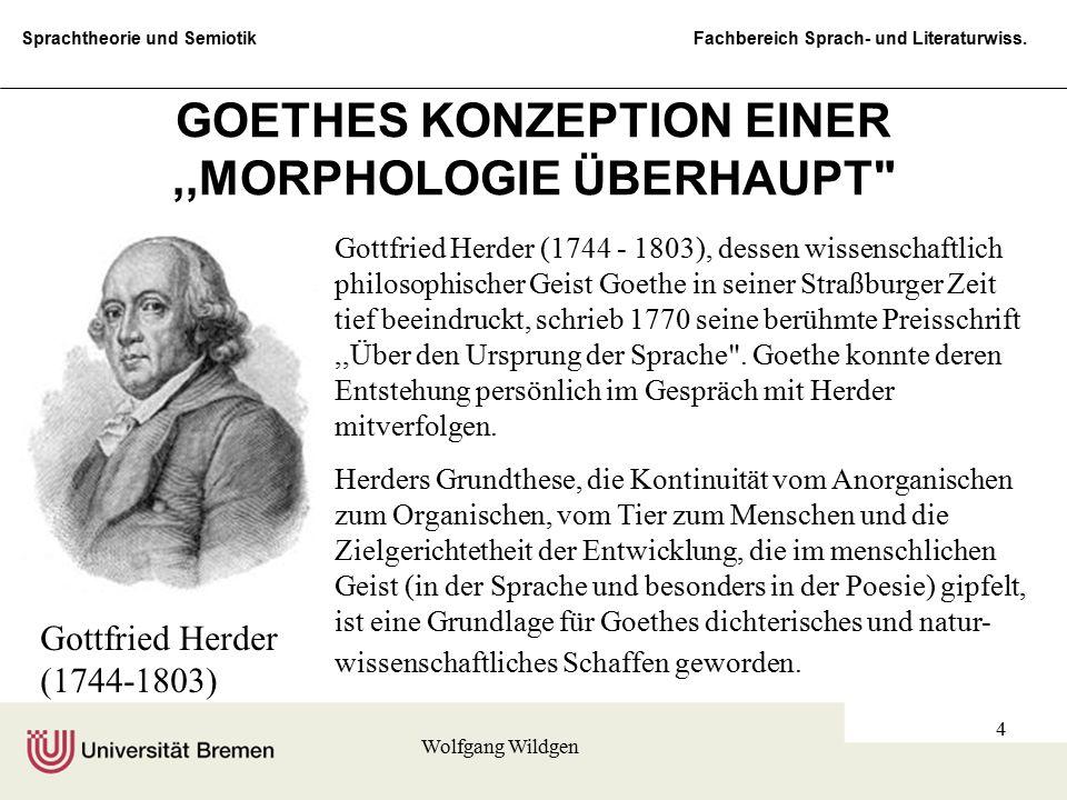 GOETHES KONZEPTION EINER ,,MORPHOLOGIE ÜBERHAUPT