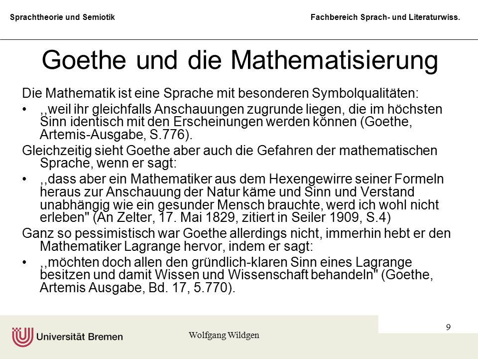 Goethe und die Mathematisierung