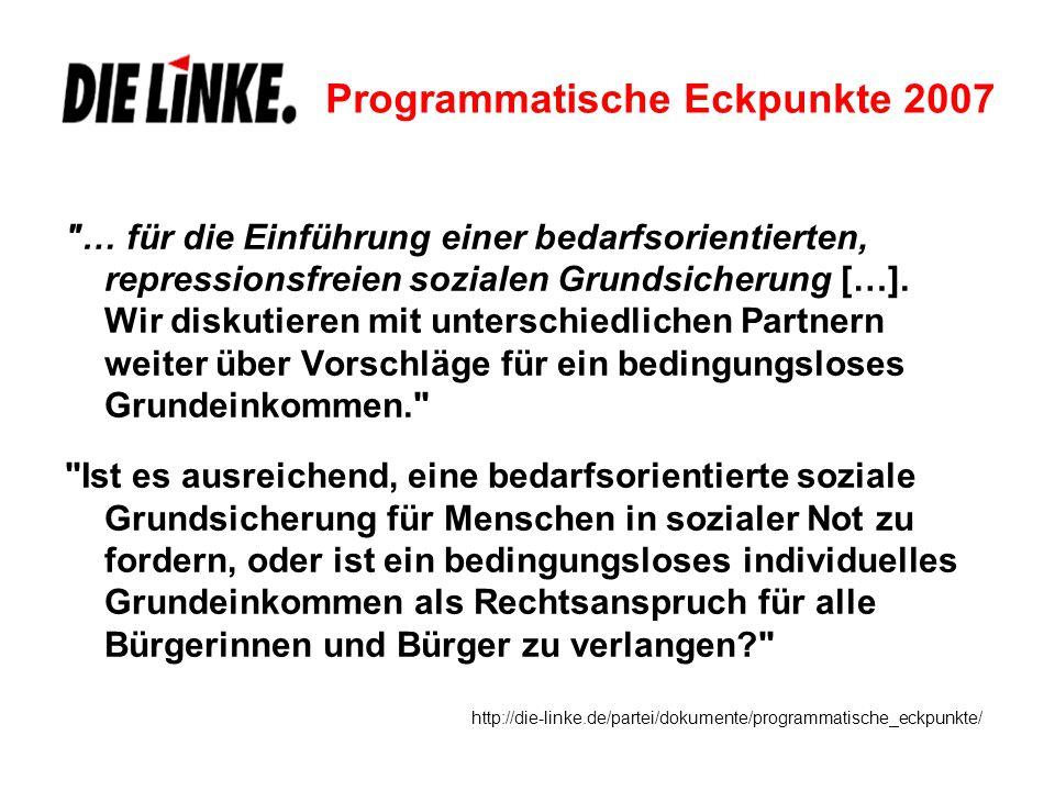 Programmatische Eckpunkte 2007