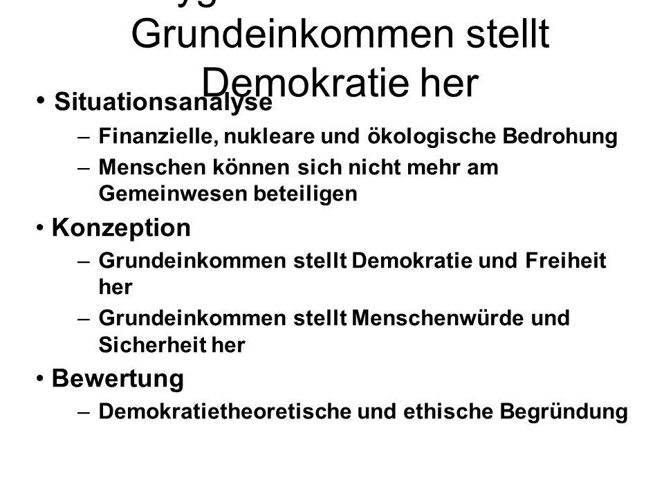 Zygmunt Baumann – Grundeinkommen stellt Demokratie her