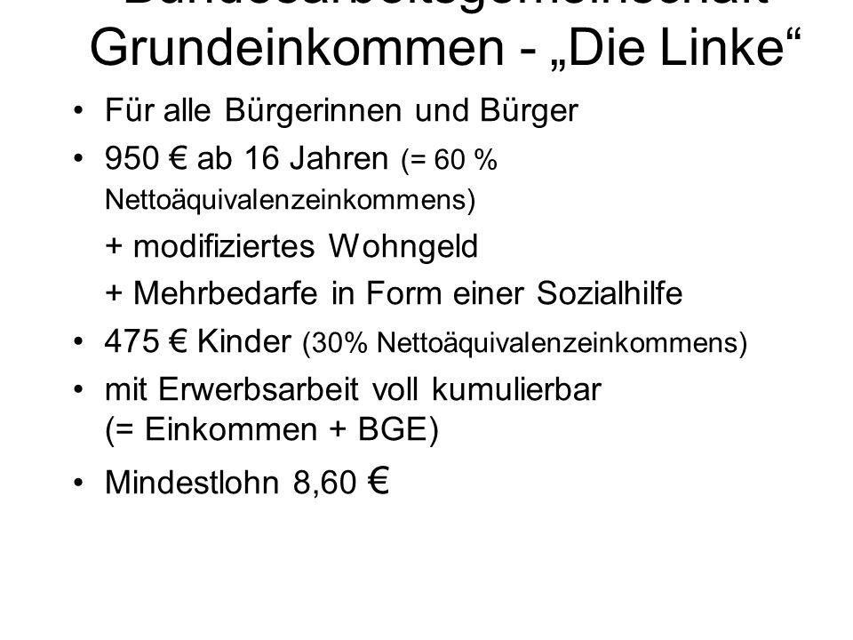 """Bundesarbeitsgemeinschaft Grundeinkommen - """"Die Linke"""