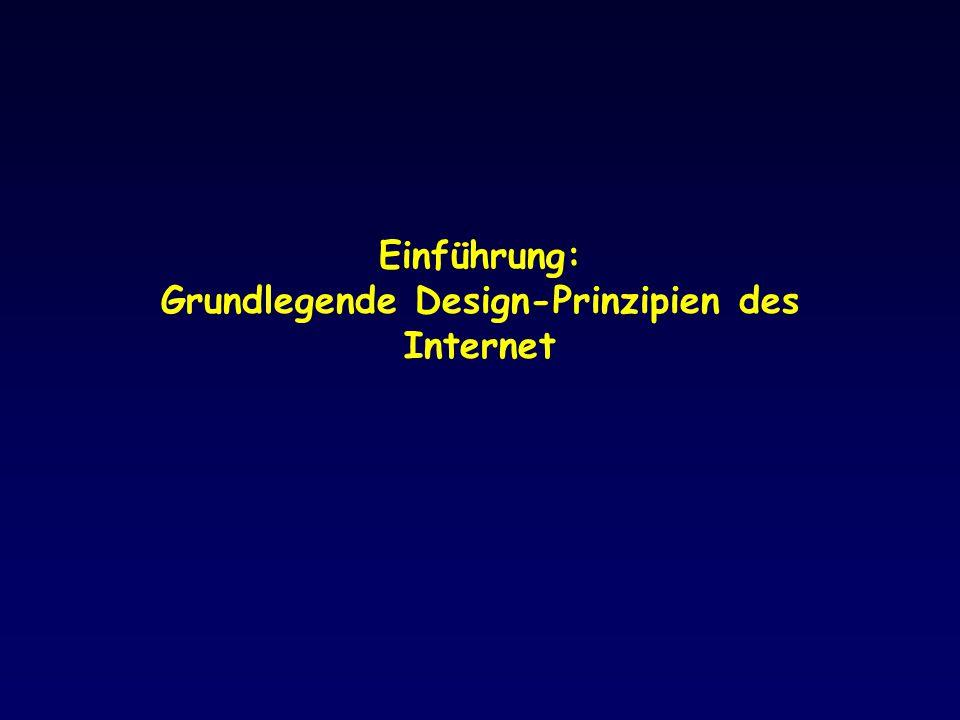 Einführung: Grundlegende Design-Prinzipien des Internet