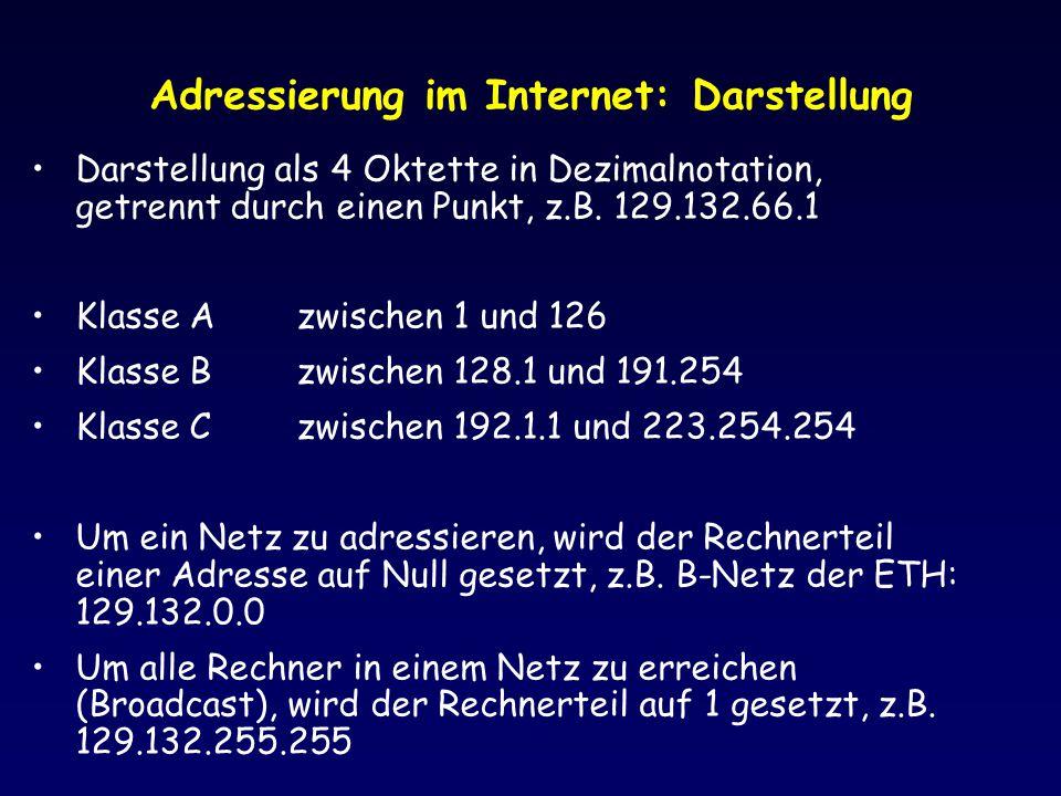 Adressierung im Internet: Darstellung