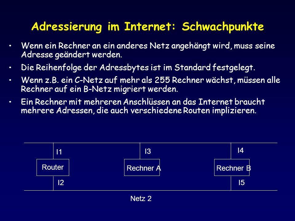 Adressierung im Internet: Schwachpunkte
