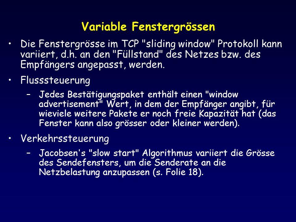 Variable Fenstergrössen