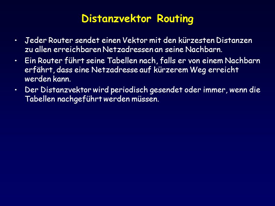 Distanzvektor Routing