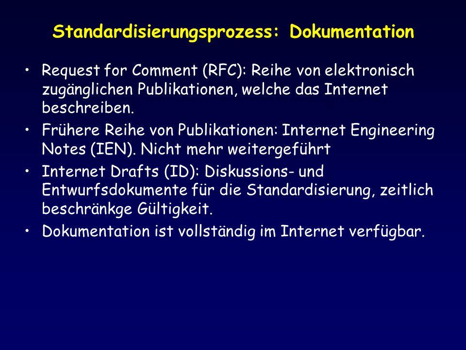 Standardisierungsprozess: Dokumentation