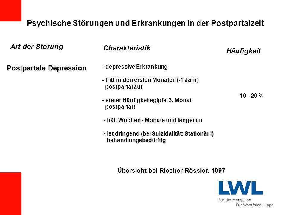 Psychische Störungen und Erkrankungen in der Postpartalzeit