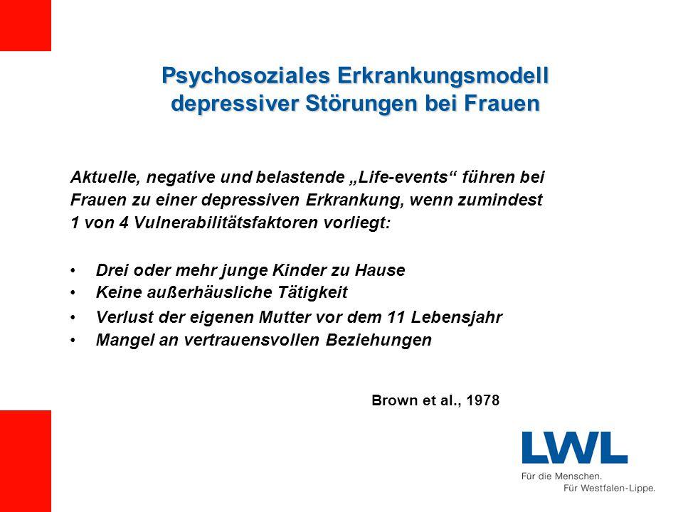 Psychosoziales Erkrankungsmodell depressiver Störungen bei Frauen