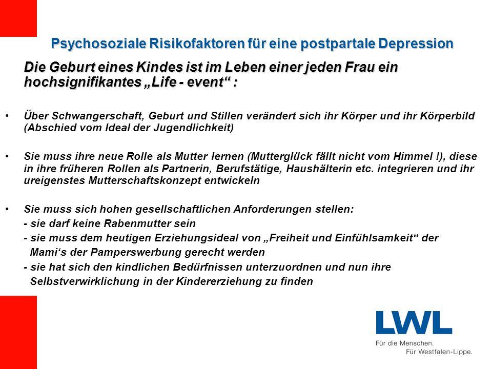 Psychosoziale Risikofaktoren für eine postpartale Depression