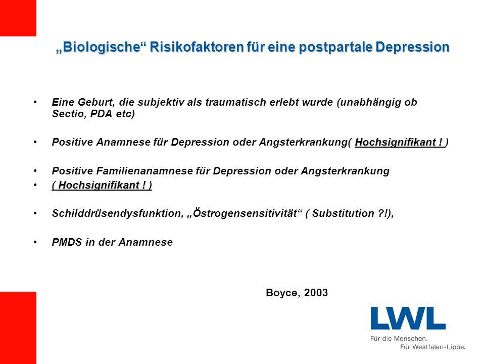 """""""Biologische Risikofaktoren für eine postpartale Depression"""