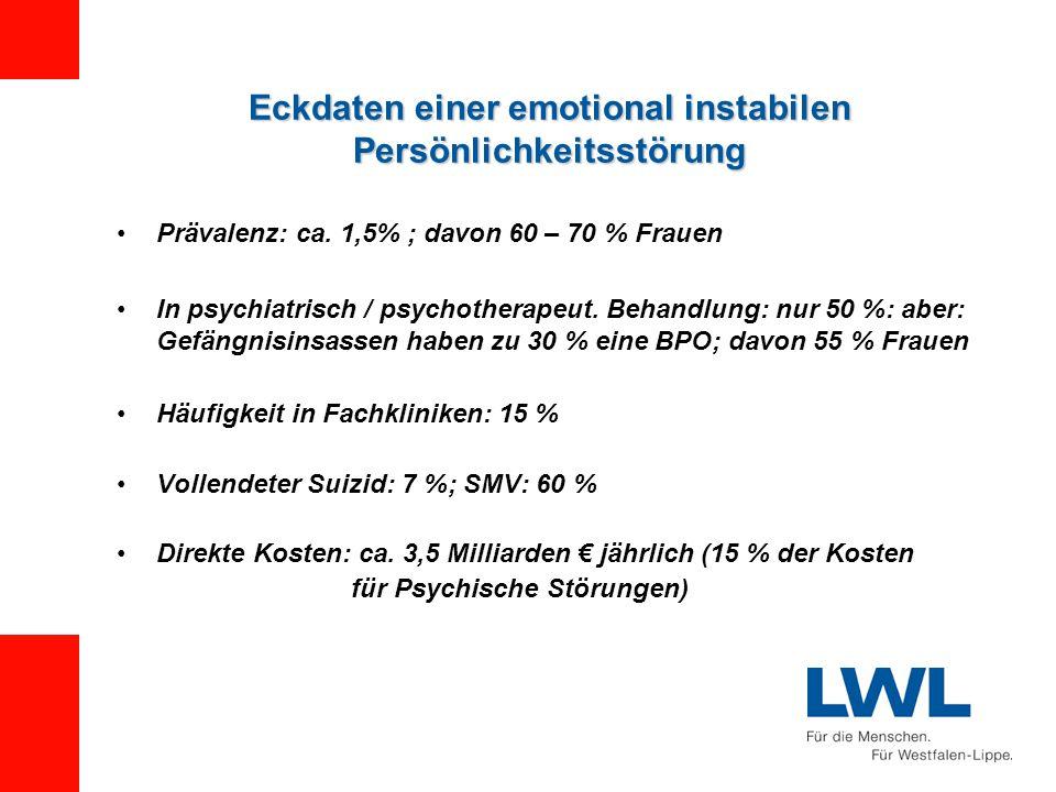 Eckdaten einer emotional instabilen Persönlichkeitsstörung