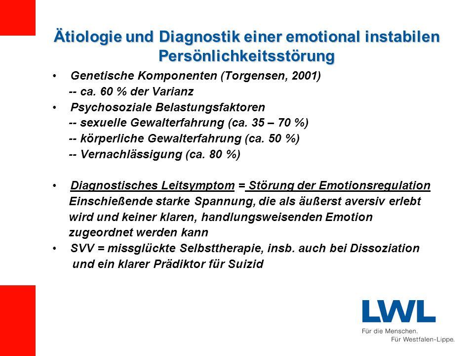 Ätiologie und Diagnostik einer emotional instabilen Persönlichkeitsstörung