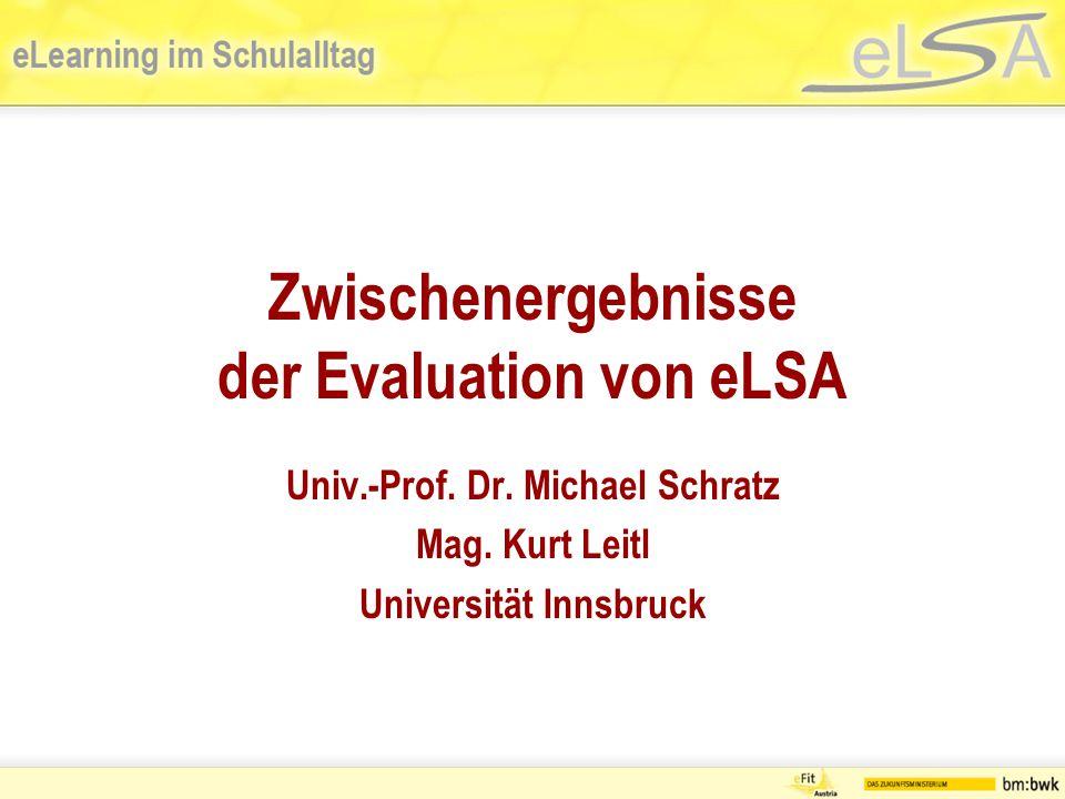 Zwischenergebnisse der Evaluation von eLSA