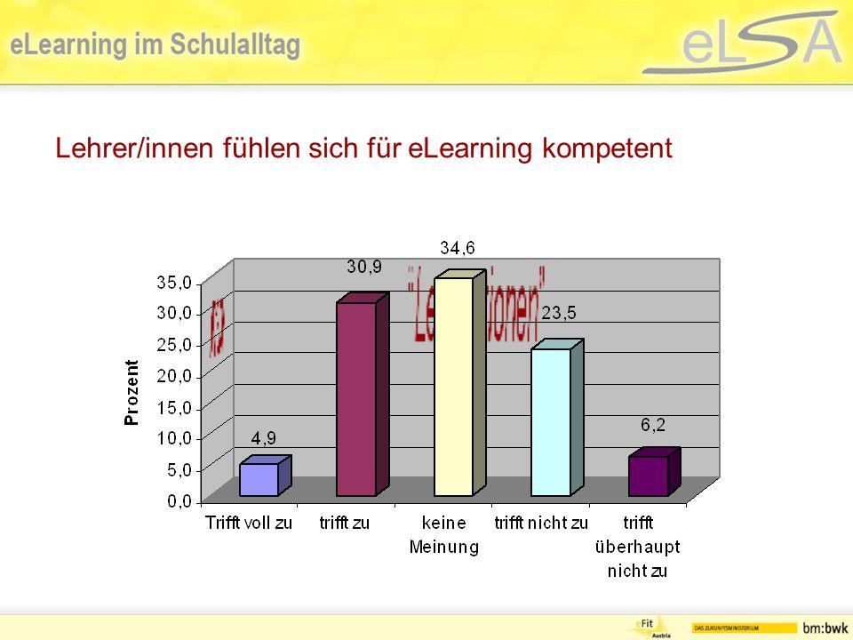 Lehrer/innen fühlen sich für eLearning kompetent