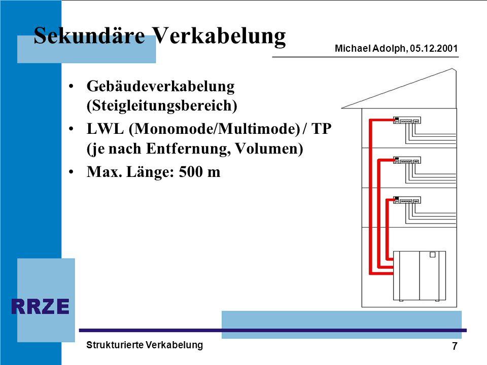 Strukturierte Verkabelung - ppt herunterladen