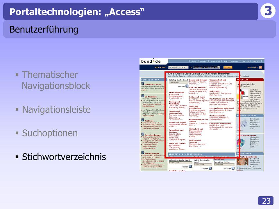 "Portaltechnologien: ""Access"