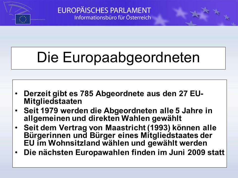 Die Europaabgeordneten