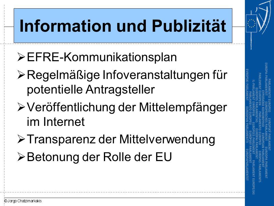 Information und Publizität