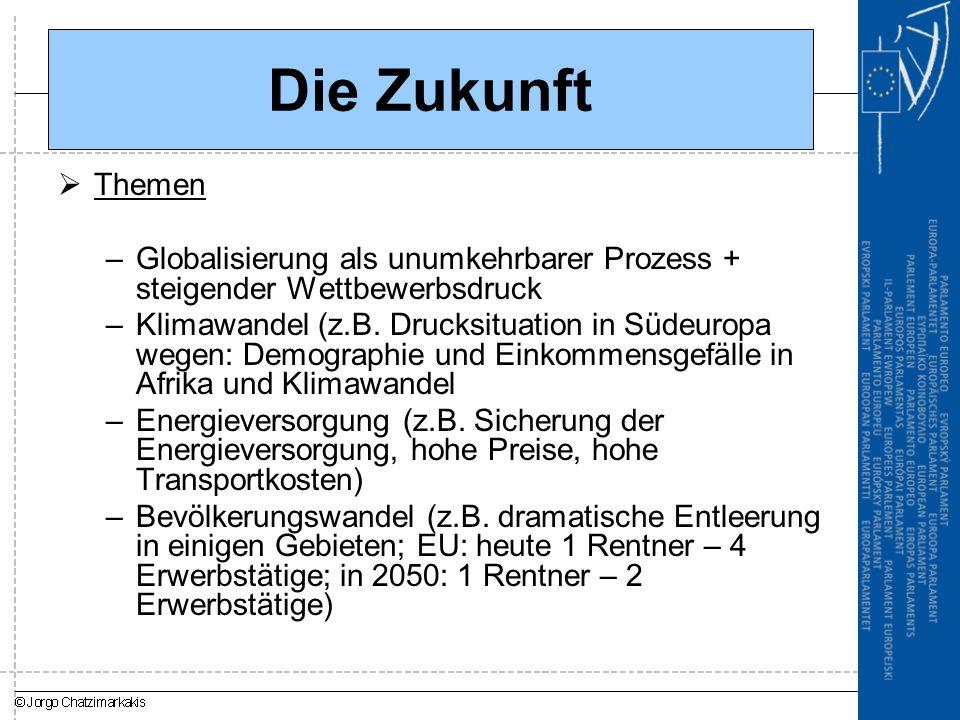 Die Zukunft Themen. Globalisierung als unumkehrbarer Prozess + steigender Wettbewerbsdruck.