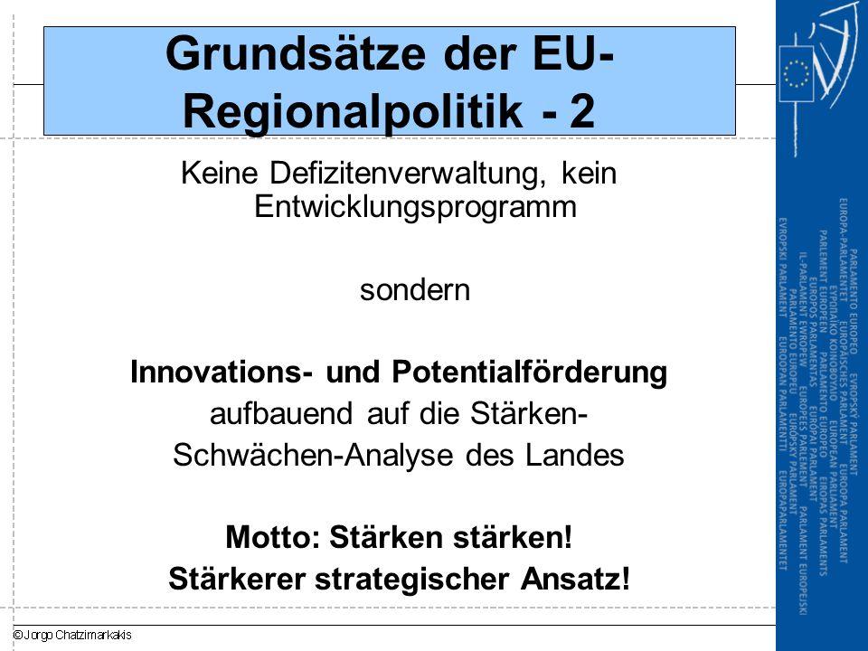 Grundsätze der EU-Regionalpolitik - 2
