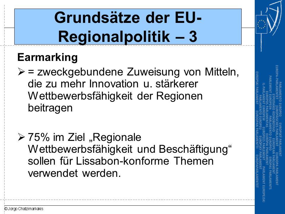 Grundsätze der EU-Regionalpolitik – 3