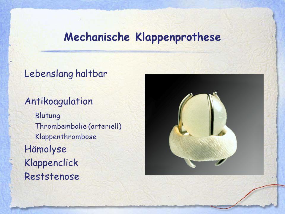Mechanische Klappenprothese