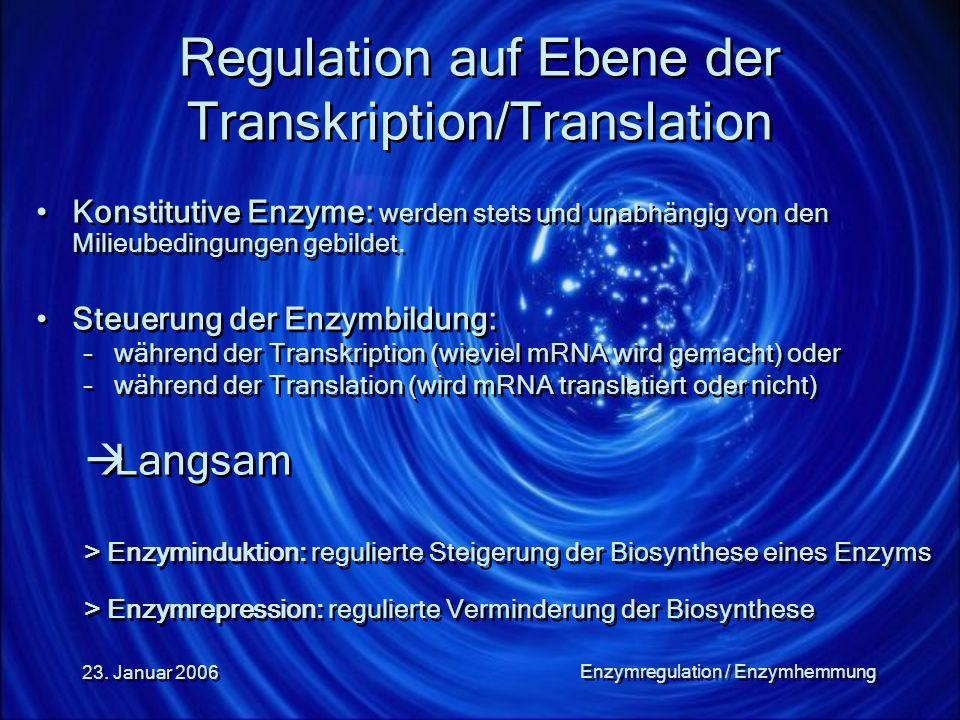 Regulation auf Ebene der Transkription/Translation