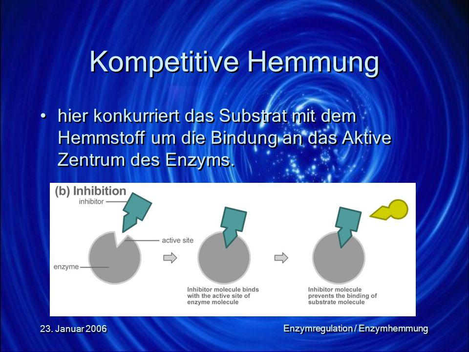 Enzymregulation / Enzymhemmung