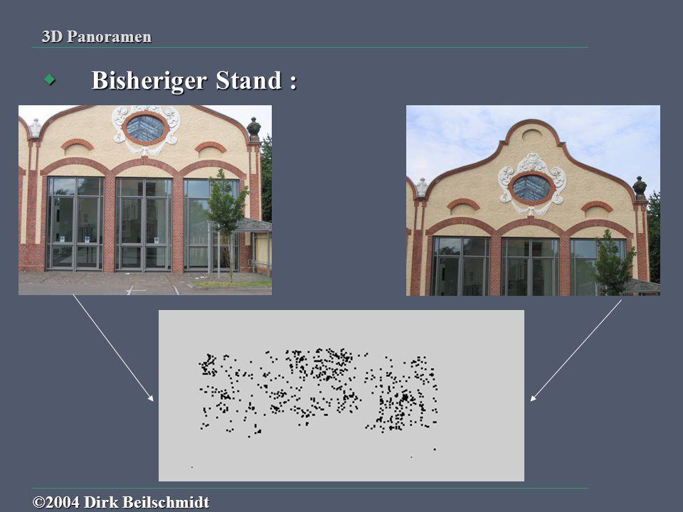 3D Panoramen Bisheriger Stand : ©2004 Dirk Beilschmidt