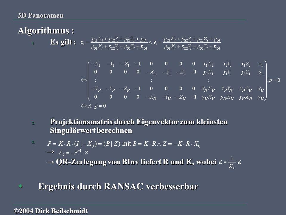 Ergebnis durch RANSAC verbesserbar