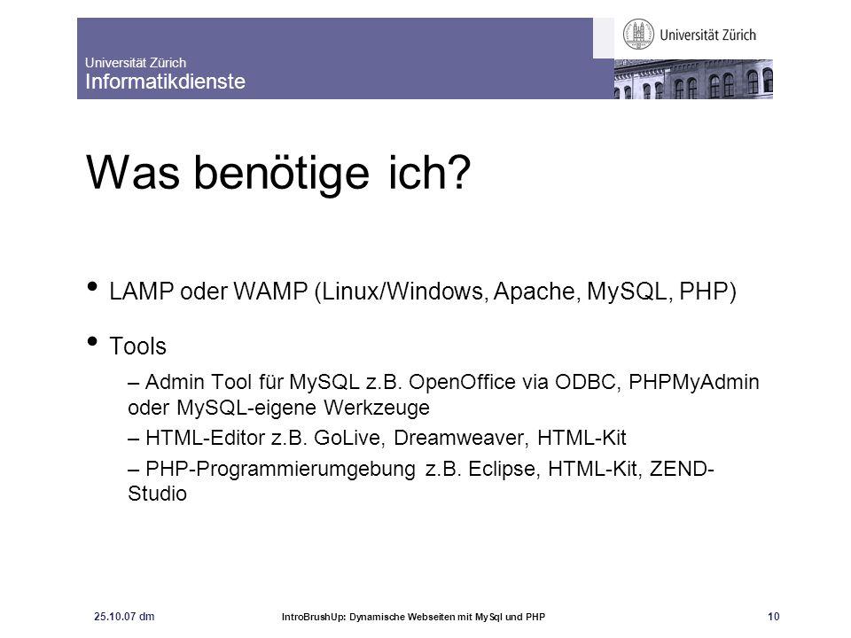 Was benötige ich LAMP oder WAMP (Linux/Windows, Apache, MySQL, PHP)