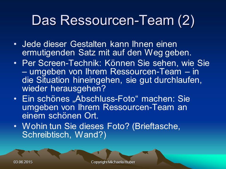Das Ressourcen-Team (2)