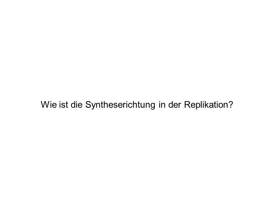 Wie ist die Syntheserichtung in der Replikation