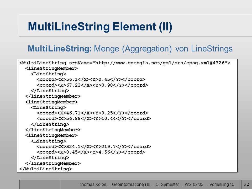 MultiLineString Element (II)