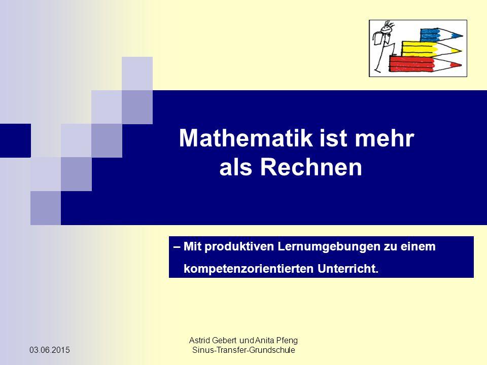 Mathematik ist mehr als Rechnen