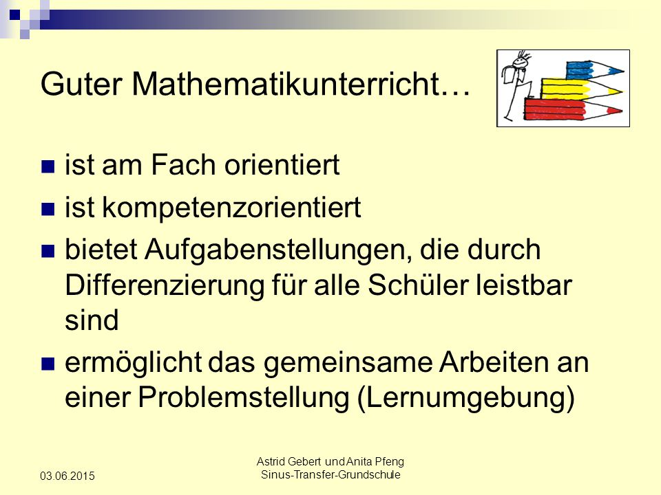 Guter Mathematikunterricht…