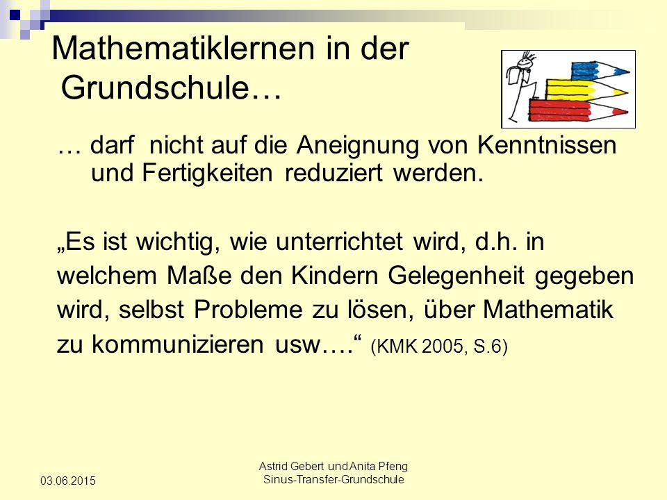 Mathematiklernen in der Grundschule…
