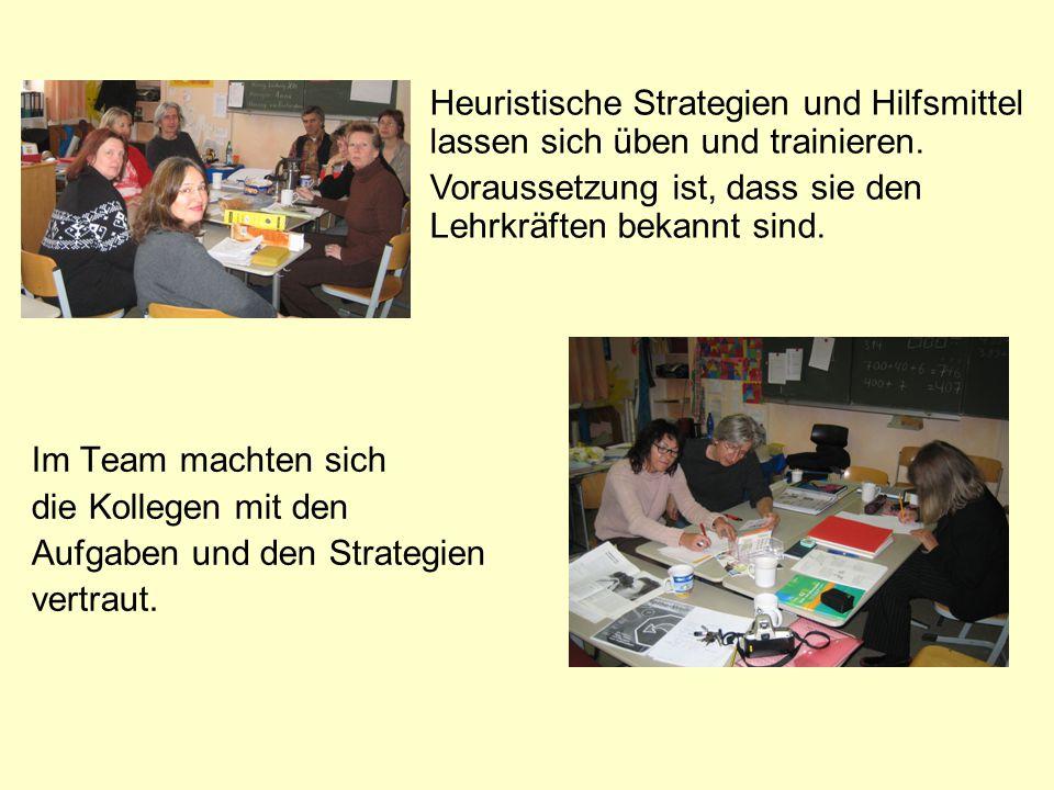 Heuristische Strategien und Hilfsmittel lassen sich üben und trainieren.