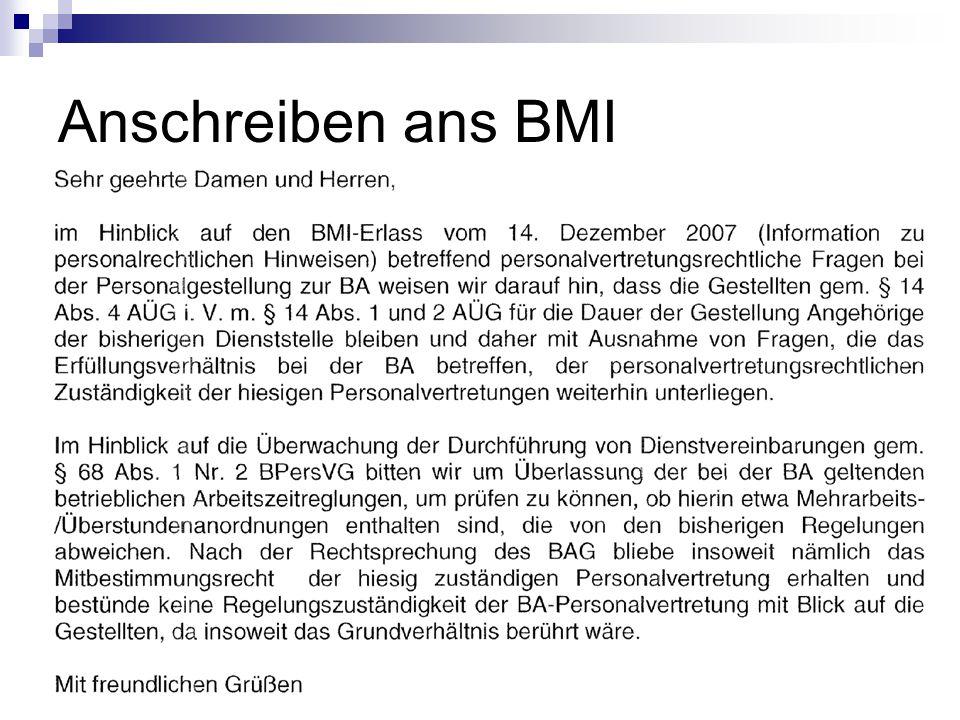 Anschreiben ans BMI
