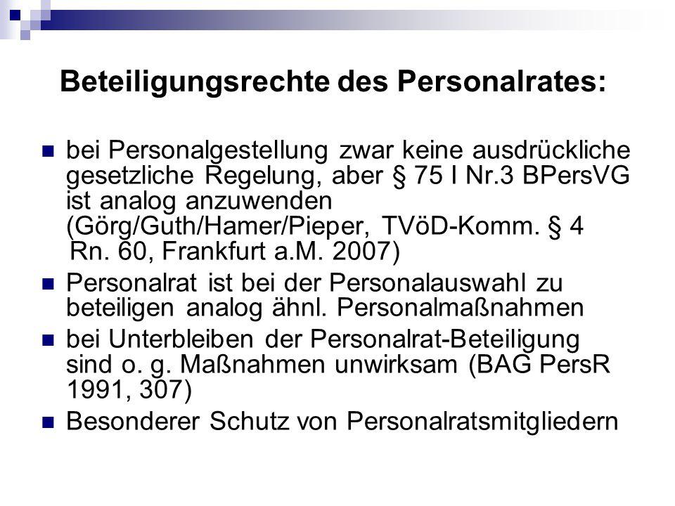 Beteiligungsrechte des Personalrates: