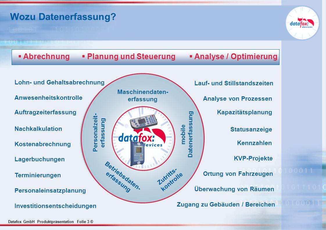 Wozu Datenerfassung Abrechnung Planung und Steuerung