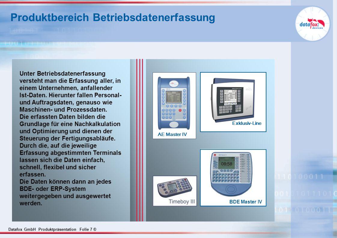 Produktbereich Betriebsdatenerfassung