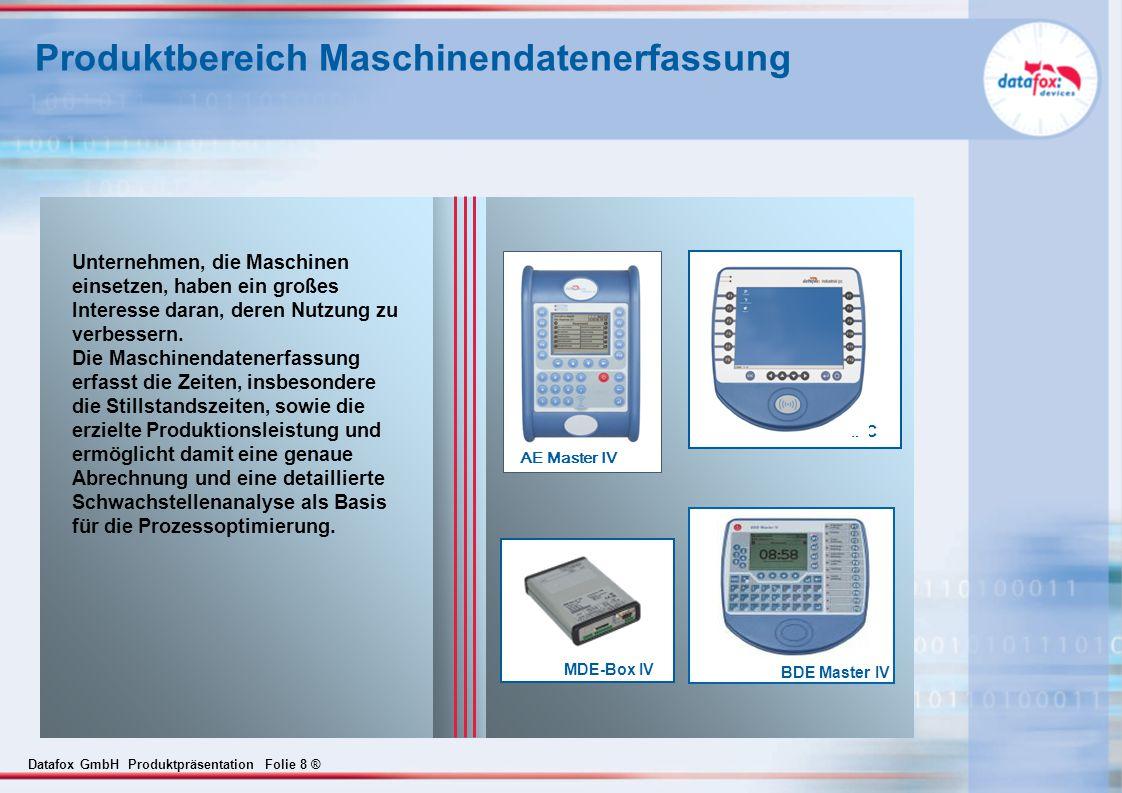 Produktbereich Maschinendatenerfassung