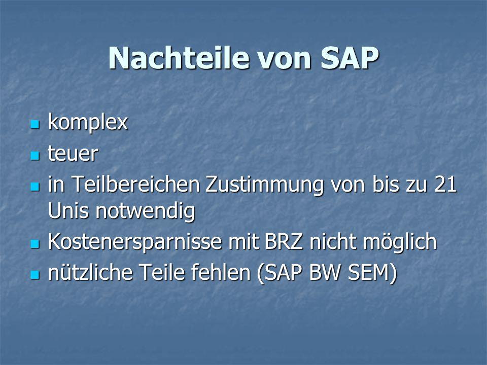 Nachteile von SAP komplex teuer