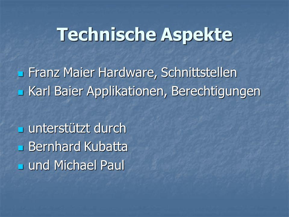Technische Aspekte Franz Maier Hardware, Schnittstellen