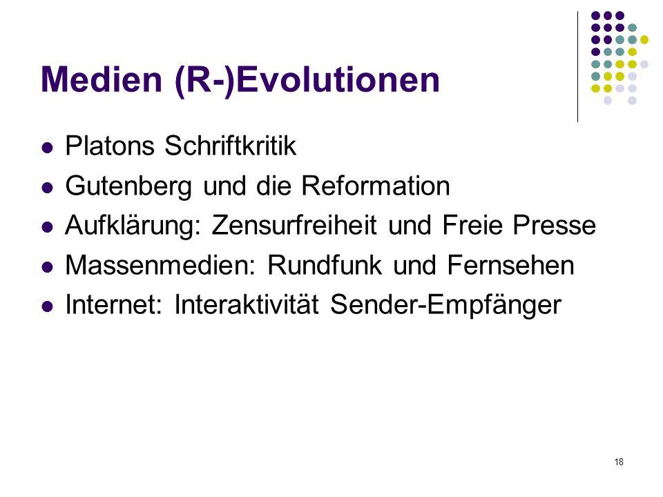 Medien (R-)Evolutionen