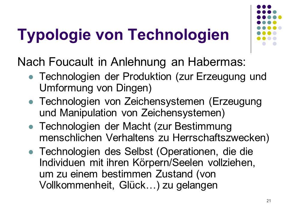 Typologie von Technologien