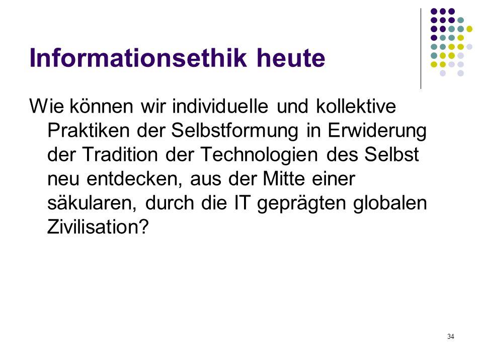 Informationsethik heute